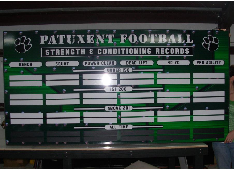 Football Athletic Boards Strength And Conditioning